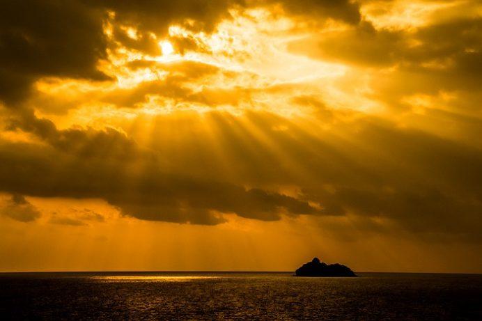 長崎市外海の夕日