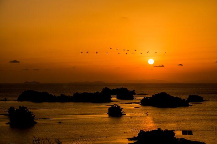 船越展望所(佐世保市船越町)の夕日