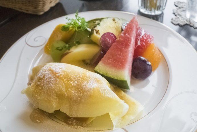 カフェハマツ 東長崎(長崎市田中町)のフルーツ&クレープ