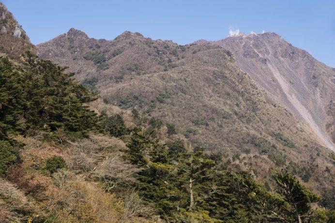 雲仙岳登山道(長崎県島原半島)、妙見岳、山頂展望台からの絶景