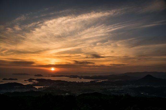 弓張岳展望台(佐世保市小野町)からの夕景