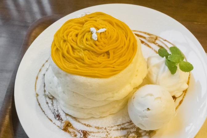 カフェルクス CAFE lx(諫早市久山町)のパンケーキ