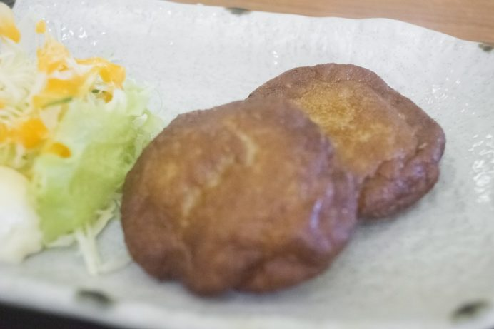 割烹いわさき(長崎市琴海戸根町)のうどん定食