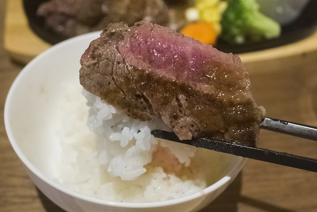 meat sukky(ミートスッキー)長崎眼鏡橋店、ステーキ丼