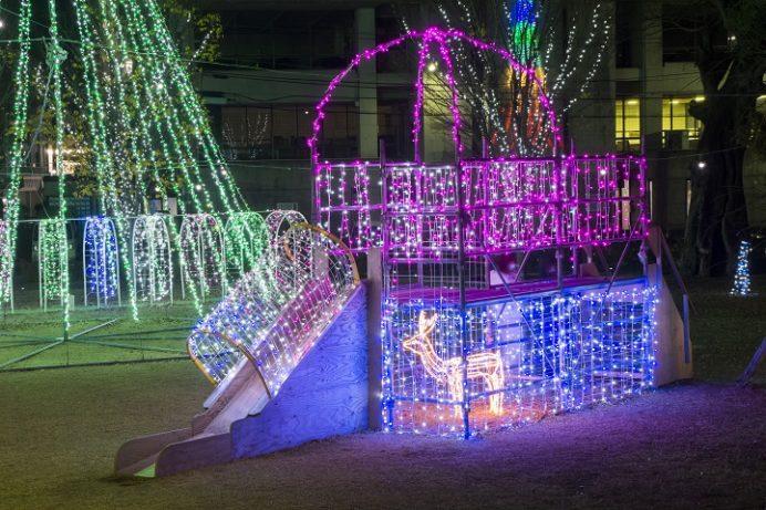 いさはや灯りファンタジアのイルミネーション(メインの諫早中央交流広場)