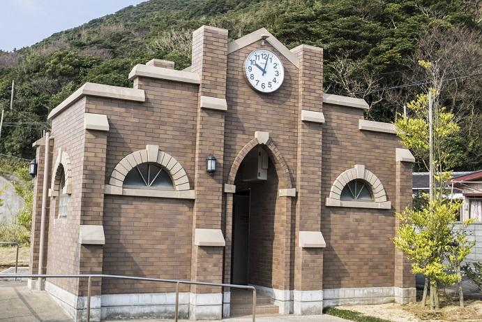 堂崎教会(五島市福江)近くのトイレ