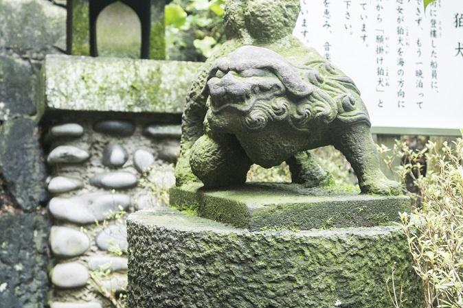 鎮西大社 諏訪神社(長崎市上西山町)の願掛け狛犬