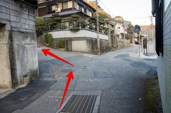 水神神社(長崎市本河内)へのアクセス、駐車場
