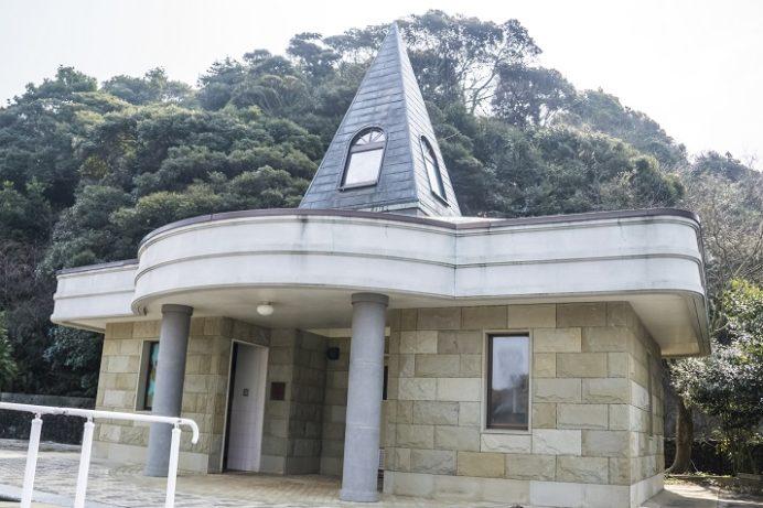 水ノ浦教会(五島市岐宿町)近くのトイレ