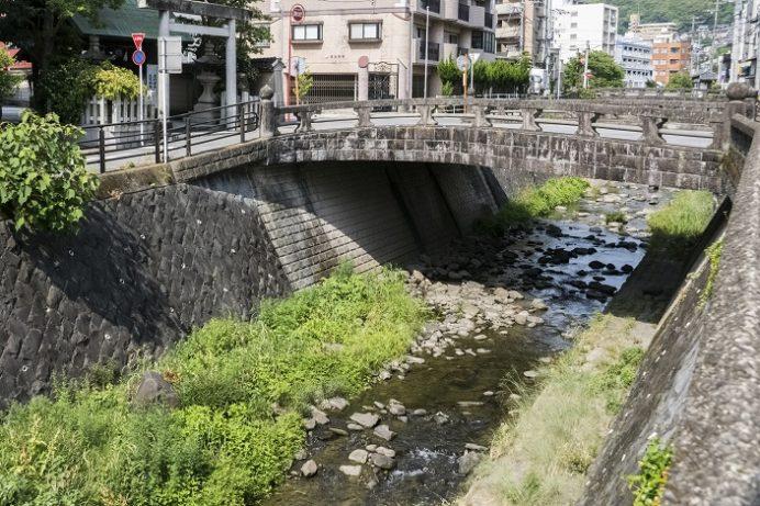 高麗橋(長崎市伊勢町)、中島川石橋群