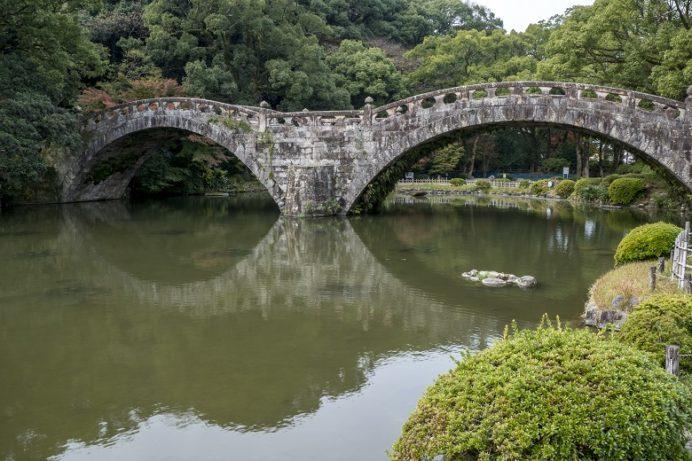 諫早眼鏡橋(長崎県高城町諫早公園)