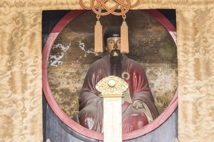 崇福寺(長崎市鍛冶屋町)の開山堂、中興開山の即非(隠元の直弟子)像