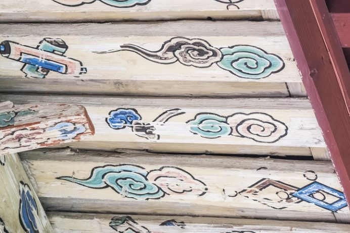 崇福寺(長崎市鍛冶屋町)の第一峰門、四手先三葉栱(よてさきさんようきょう)