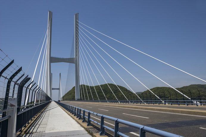 女神大橋(長崎市西泊町)の遊歩道