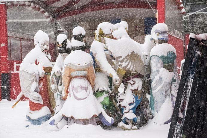 長崎ランタンフェスティバル、雪化粧