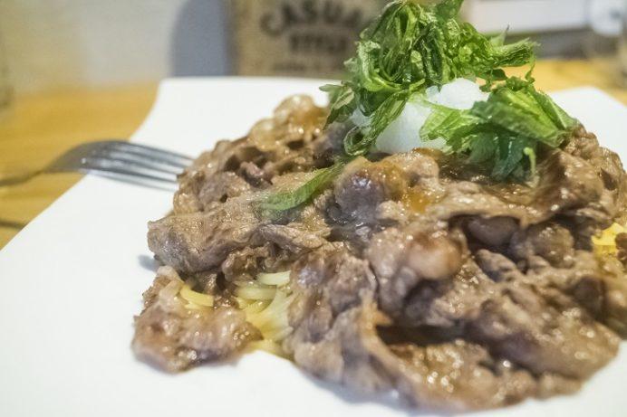 meat sukky(ミートスッキー)長崎新大工店、牛おろしパスタ
