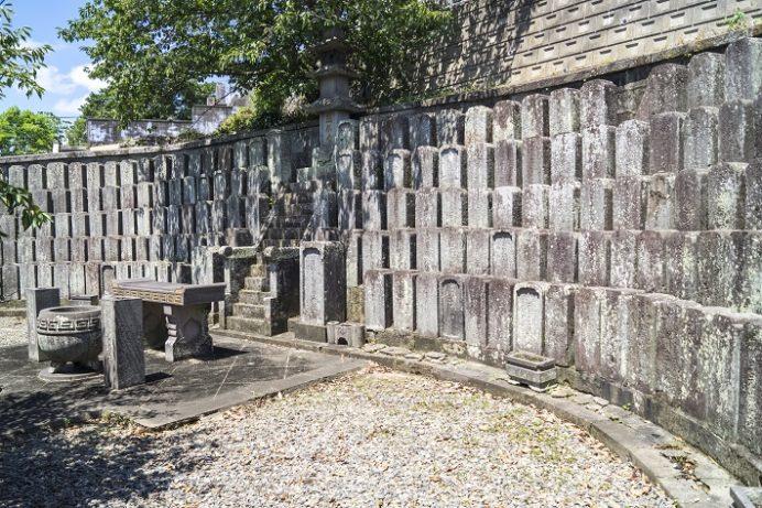 福済寺(長崎市筑後町)、唐人の墓地