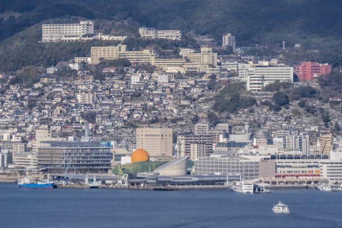女神大橋(長崎市西泊町)の遊歩道からの風景