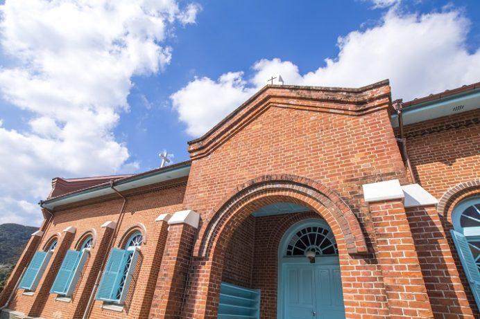 黒崎教会(長崎市上黒崎町、外海地区)
