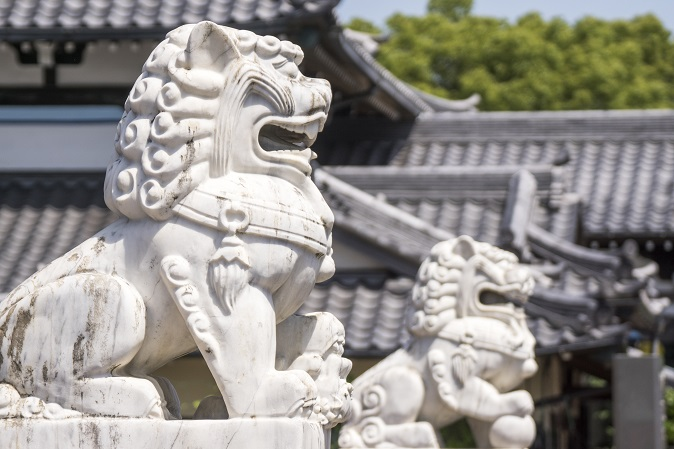 福済寺(長崎市筑後町)、狛犬