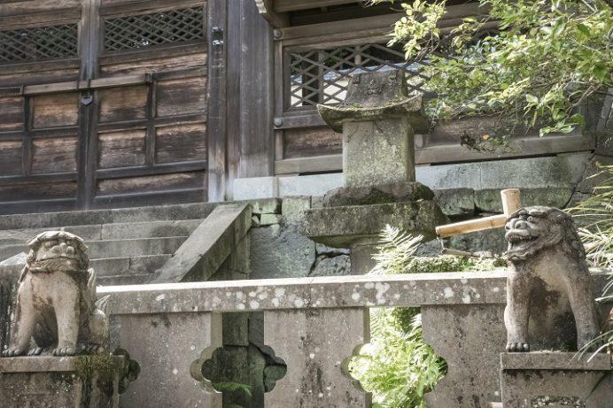 鎮西大社 諏訪神社(長崎市上西山町)の蛭子社、カッパ狛犬