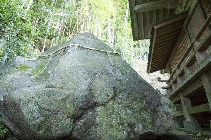 鎮西大社 諏訪神社(長崎市上西山町)の厄難除け蛙岩