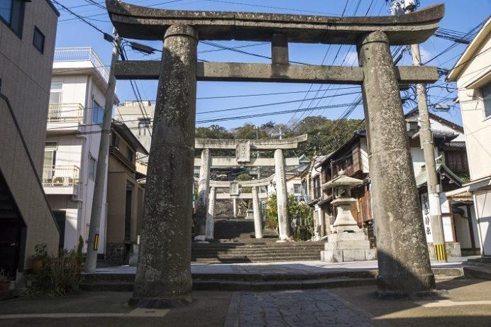 鎮西大社 諏訪神社(長崎市上西山町)の二の鳥居