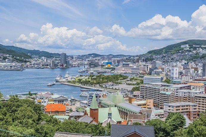 グラバースカイロード展望所からの風景(長崎市)