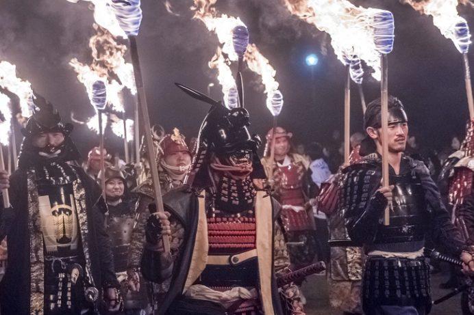 観櫻火宴(島原半島、雲仙市千々石の橘神社)