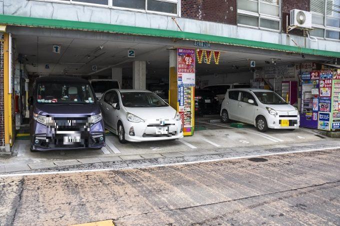 坂本龍馬自販機・観光駐車場(長崎市麹屋町)