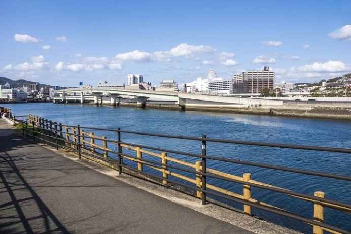 浦上川河川公園コース(三菱グラウンドそば)