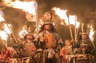 【2021開催?中止?】「観櫻火宴」(かんおうかえん)~総勢200名突破!日本一のたいまつ武者行列