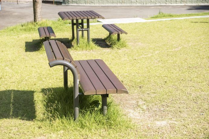 皿山公園(北松浦郡佐々町)のベンチ