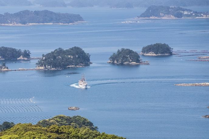 九十九島観光公園(佐世保市下船越町)からの九十九島