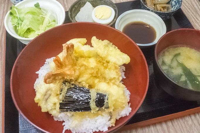 浜康(濱中水産)、長崎市新大工町の天丼定食