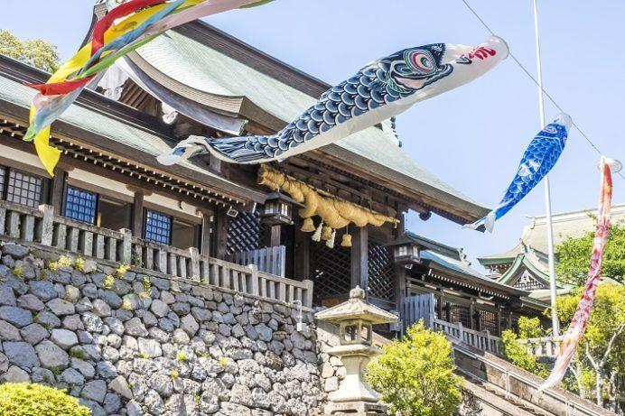 鎮西大社 諏訪神社(長崎市上西山町)の鯉のぼり(こいのぼり)