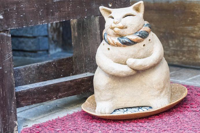 かんざき食堂(長崎市諏訪町)、猫の聖地