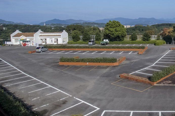 西海橋公園(長崎県西海市・佐世保市針尾)、駐車場