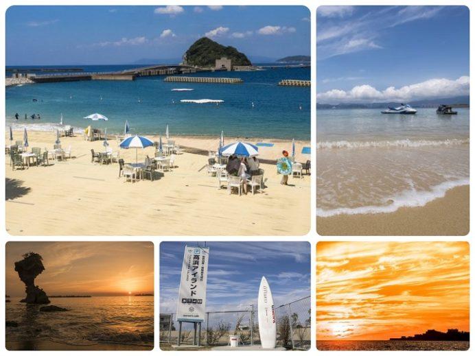 長崎市の海水浴場(伊王島、高島、高浜)