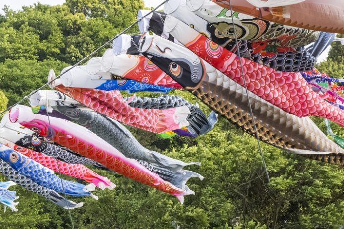 久留里ダム(時津町)の鯉のぼり(こいのぼり)