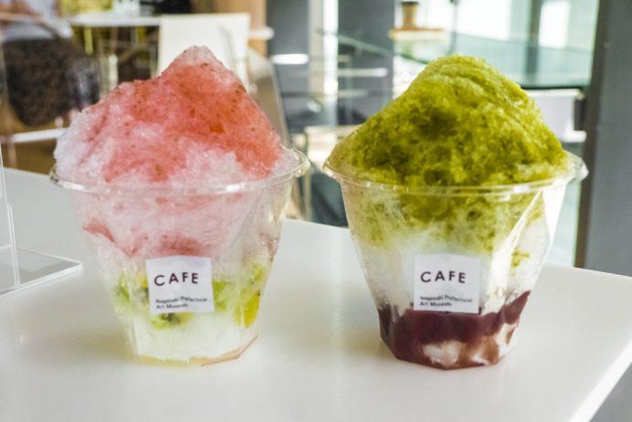 長崎県美術館カフェ(長崎市出島町)のかき氷