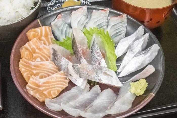 竹野鮮魚店(諫早市永昌東町)の職人おまかせ刺身定食
