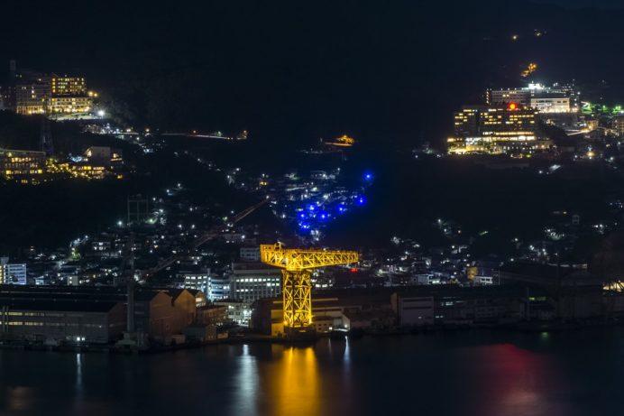 鍋冠山公園展望台(長崎市出雲)の長崎の夜景、北斗七星
