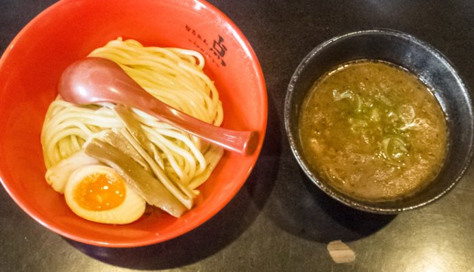 らーめん点(ともる)、長崎市千歳町、住吉地区のラーメン店のつけ麺