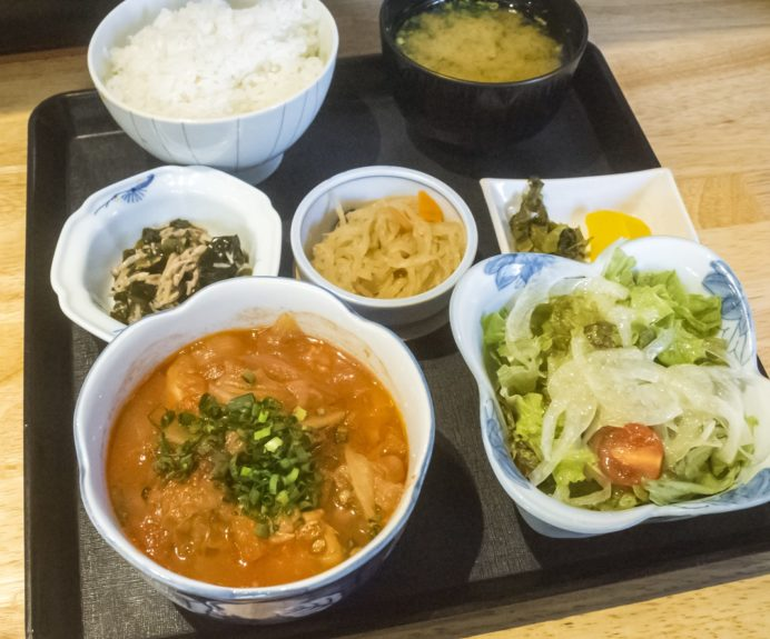 喜助うどん(長崎市新大工町)の日替り定食