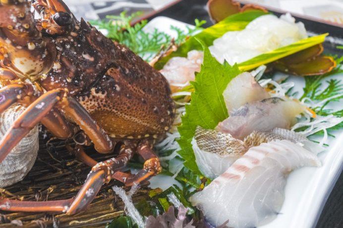お食事処 いち望(長崎市以下宿町)のイセエビ刺身定食