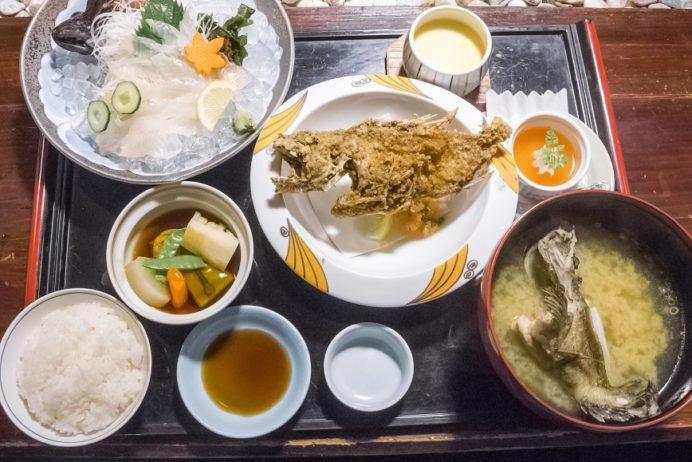活いか料理専門 一魚一会(佐世保市針尾東町、西海橋そば)のあらかぶ御膳(松)