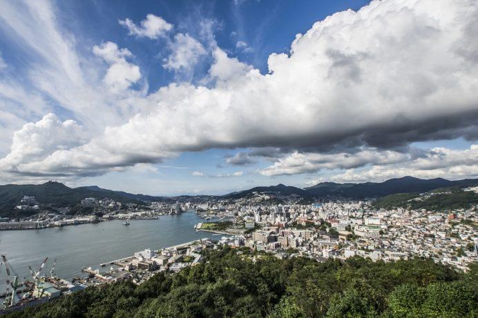 鍋冠山公園展望台からの長崎の絶景