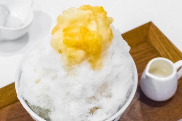きりん食堂(諫早市八坂町)のシースクリーム風かき氷