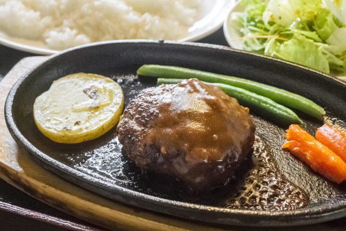 お肉工房 梅桜亭(島原市中安徳町丁)、焼肉店の黒毛和牛ハンバーグ定食
